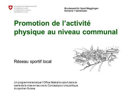 Office fédéral du sport Macolin - Cantons + communes