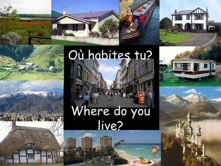 Où habites tu? Where do you live?. …dans une maison …in a house.