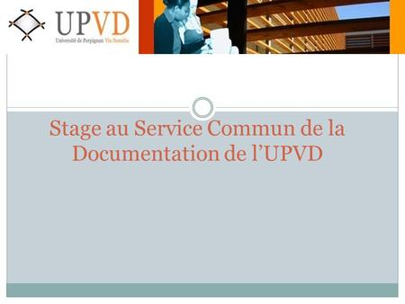 Stage au Service Commun de la Documentation de l'UPVD