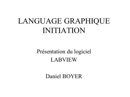 LANGUAGE GRAPHIQUE INITIATION