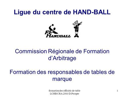 Ligue du centre de HAND-BALL