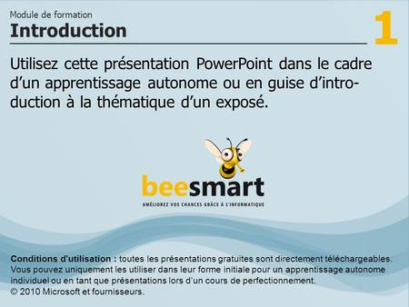1 Utilisez cette présentation PowerPoint dans le cadre dun apprentissage autonome ou en guise dintro- duction à la thématique dun exposé. Introduction.