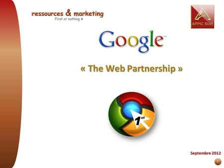« The Web Partnership » Septembre 2012.