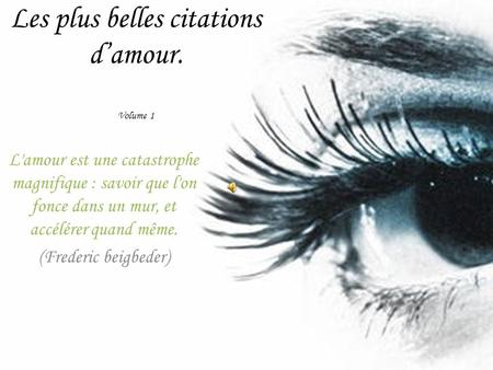 Les plus belles citations d'amour. Volume 1