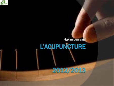 Hakim ben said l'acupuncture 2012/2013.