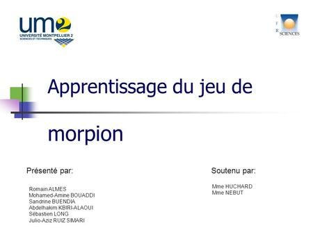 Apprentissage du jeu de morpion