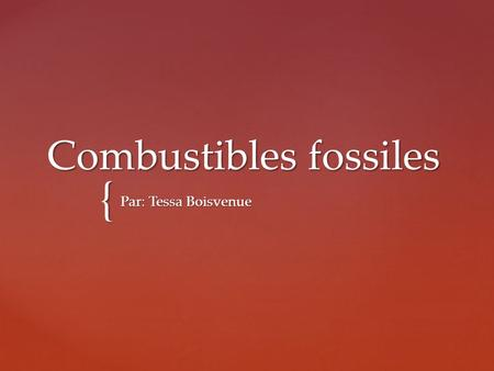 Combustibles fossiles