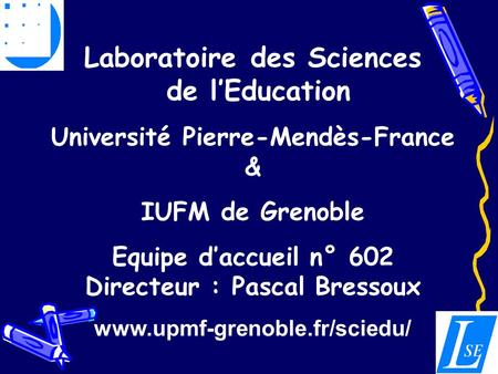 Laboratoire des Sciences de l'Education