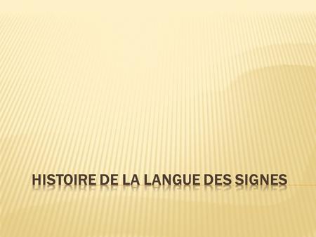 langue des signes universelle