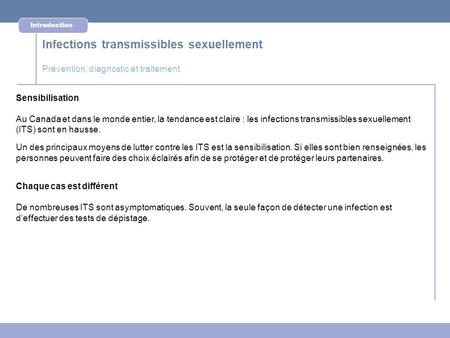 Infections transmissibles sexuellement