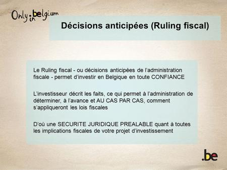 Décisions anticipées (Ruling fiscal)
