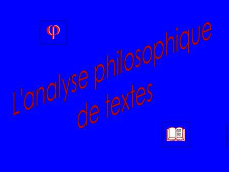 L'analyse philosophique