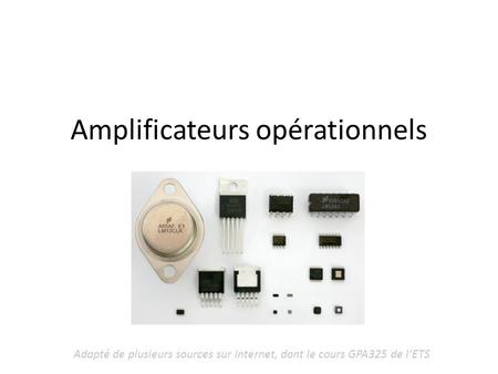 Amplificateurs opérationnels