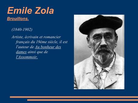 Emile Zola Brouillons. ( )