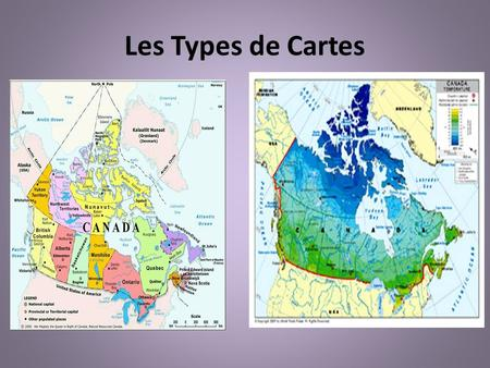 Les Types de Cartes.