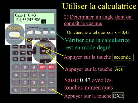 Utiliser la calculatrice