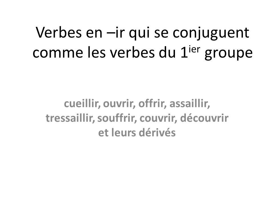 Verbes En Ir Qui Se Conjuguent Comme Les Verbes Du 1ier Groupe Ppt Video Online Telecharger