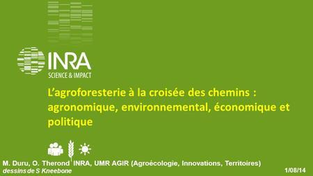 Agroforesterie +++ Christian Dupraz, INRA Montpellier  - ppt