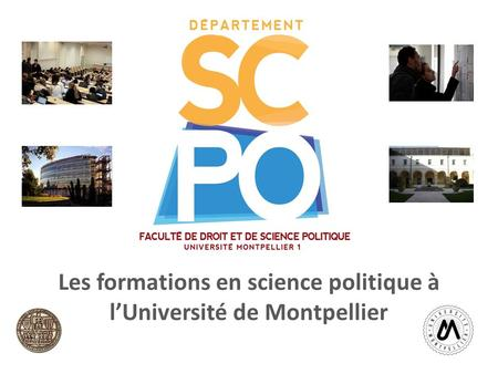 Les formations en science politique à l'Université de Montpellier Salon de.