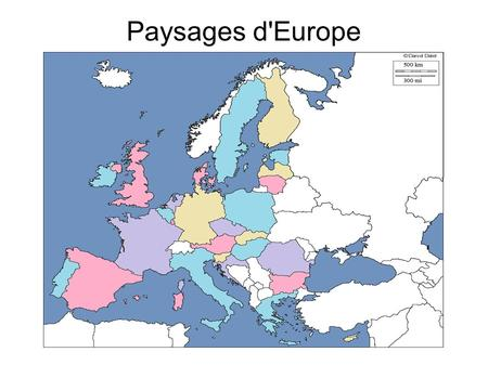 Paysages d'Europe.
