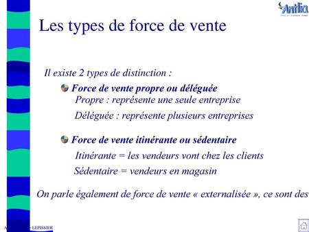 Les types de force de vente