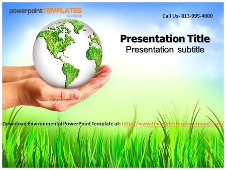 Presentation Title Presentation subtitle Download Environmental PowerPoint Template at:
