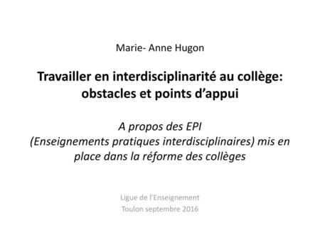 Ligue de l'Enseignement Toulon septembre 2016