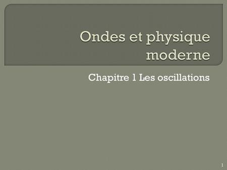 Chapitre 1 Les oscillations 1.  Site Web:  A-2010/Bienvenue_.htmlhttp://www.cegep-ste-foy.qc.ca/profs/cshields/NYC/NYC-