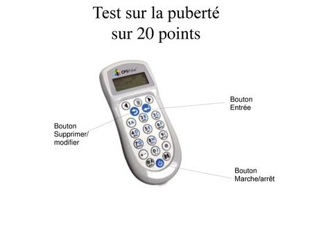 Test sur la puberté sur 20 points