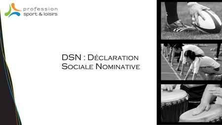 DSN : Déclaration Sociale Nominative.