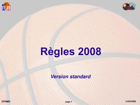 Règles 2008 Version standard.