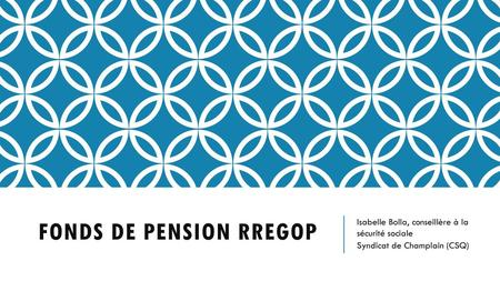 Fonds de pension RREGOP