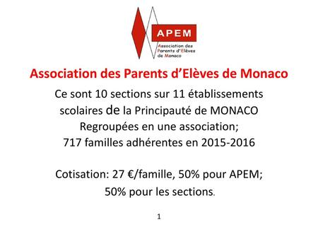 Association des Parents d'Elèves de Monaco