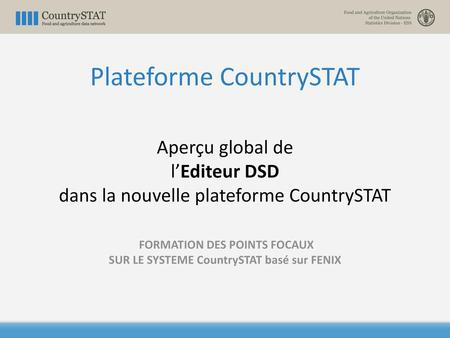 Plateforme CountrySTAT