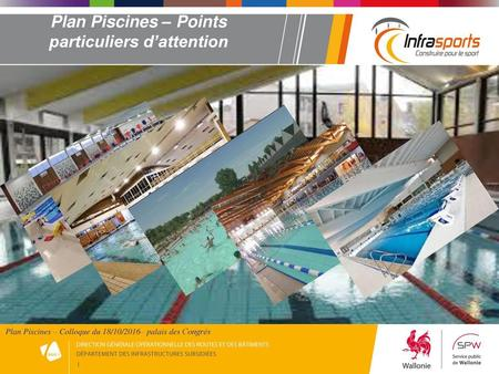 Plan Piscines – Points particuliers d'attention