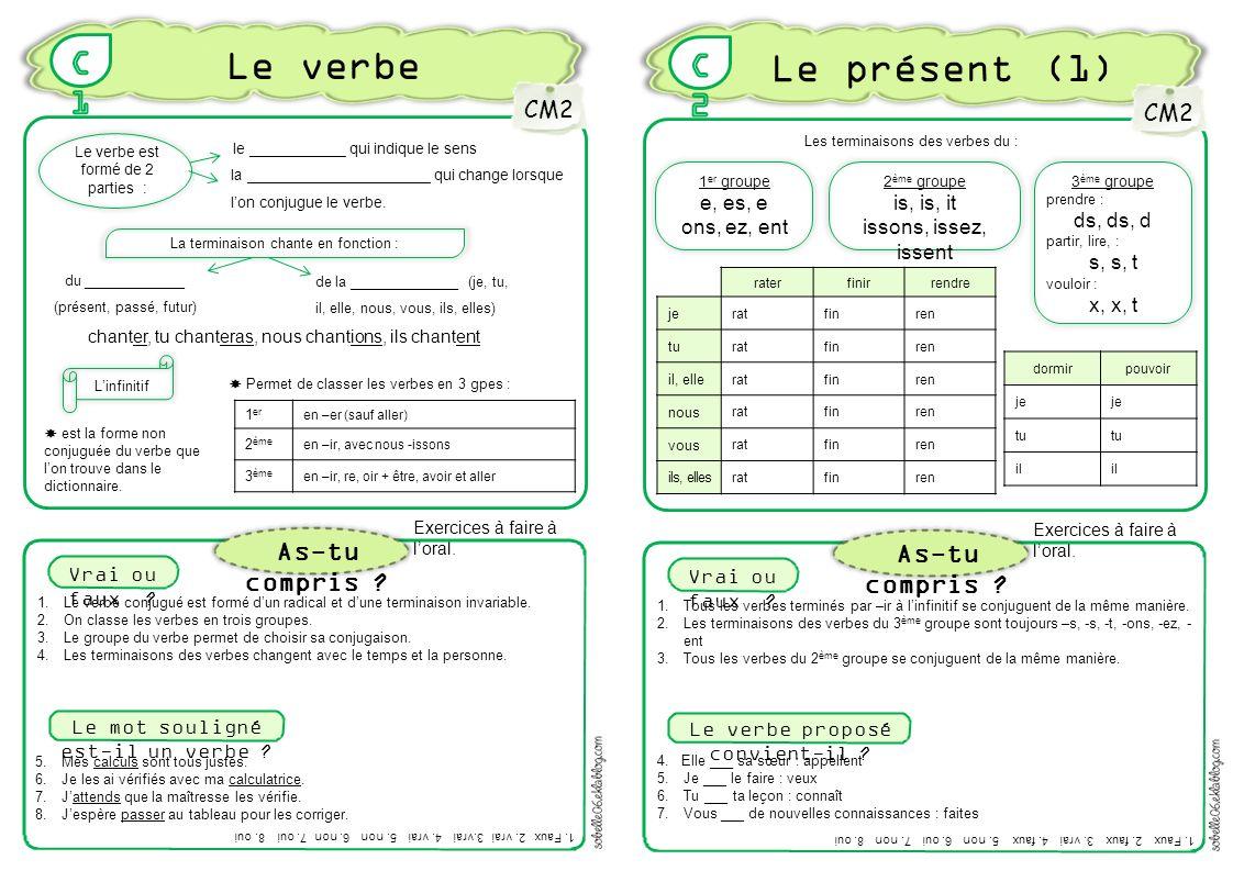 Le Verbe Le Present 1 C1 C2 As Tu Compris As Tu Compris Cm2 Cm2 Ppt Video Online Telecharger