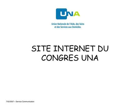 SITE INTERNET DU CONGRES UNA