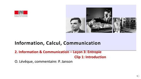 Information, Calcul, Communication
