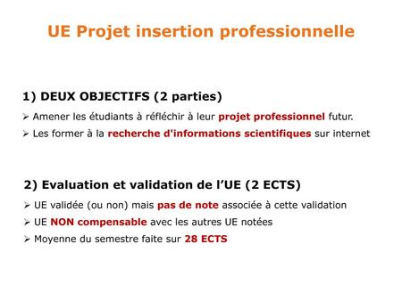 UE Projet insertion professionnelle
