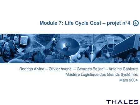 Module 7: Life Cycle Cost – projet n°4