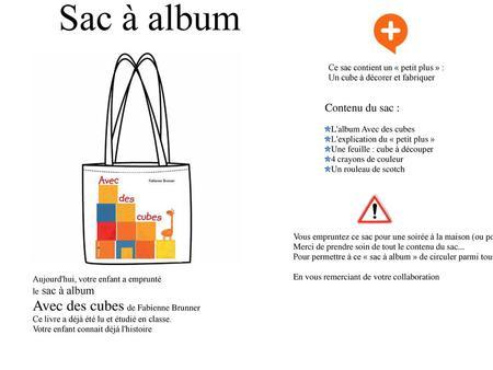 Sac à album Ce sac contient un « petit plus » : Le jeu petit