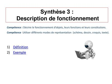 Description de fonctionnement