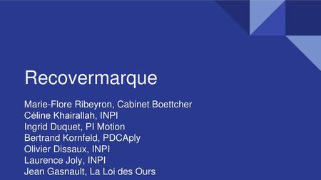 Recovermarque Marie-Flore Ribeyron, Cabinet Boettcher
