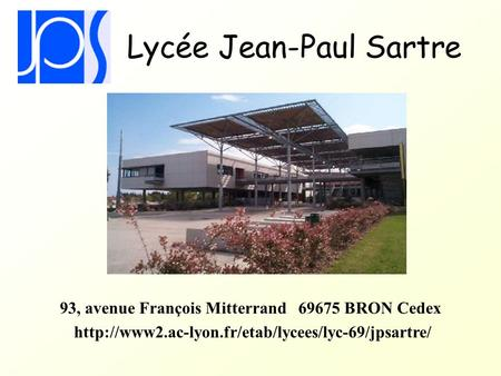portail du lycee jean paul sartre