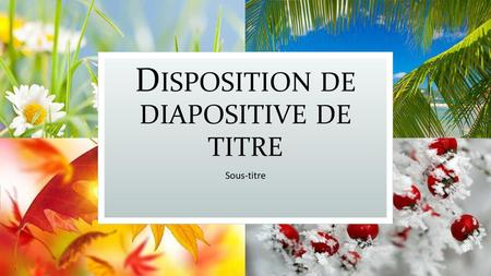 Disposition de diapositive de titre
