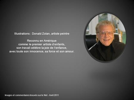 Illustrations : Donald Zolan, artiste peintre Reconnu en Amérique
