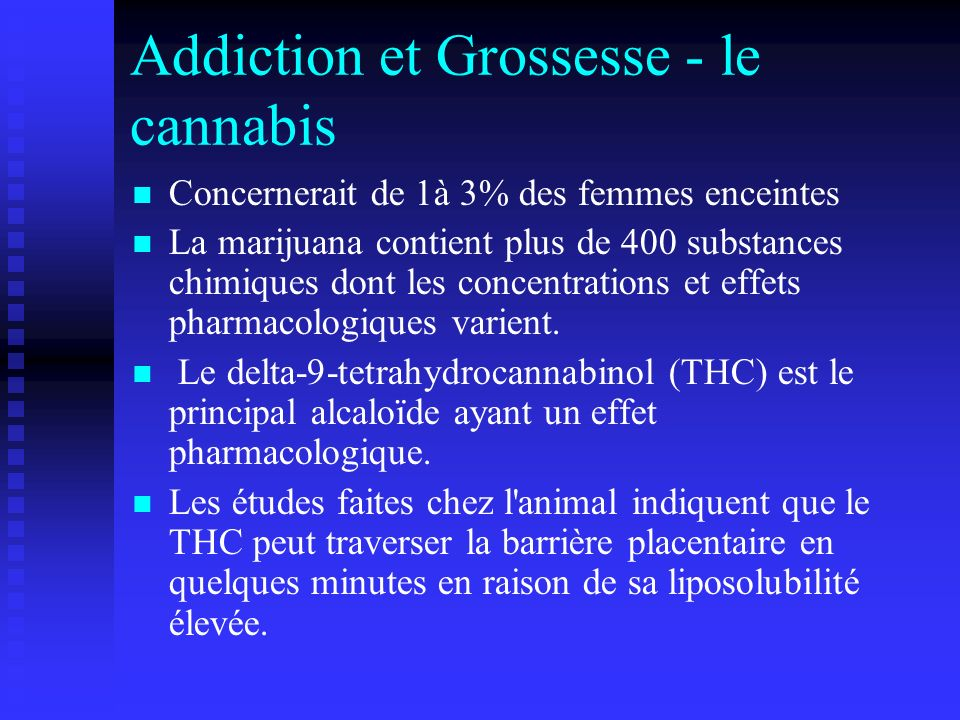 Addiction et Grossesse - le cannabis