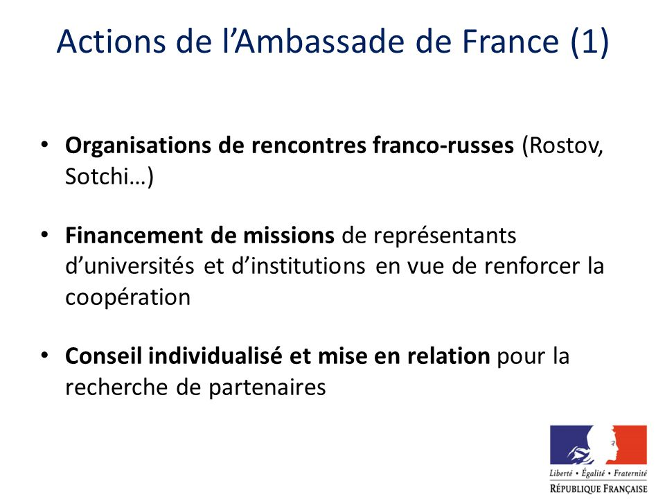 Actions de l'Ambassade de France (1)