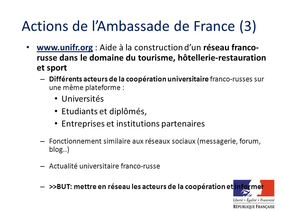 Actions de l'Ambassade de France (3)