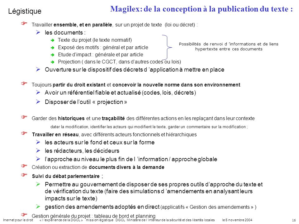 Magilex: de la conception à la publication du texte :